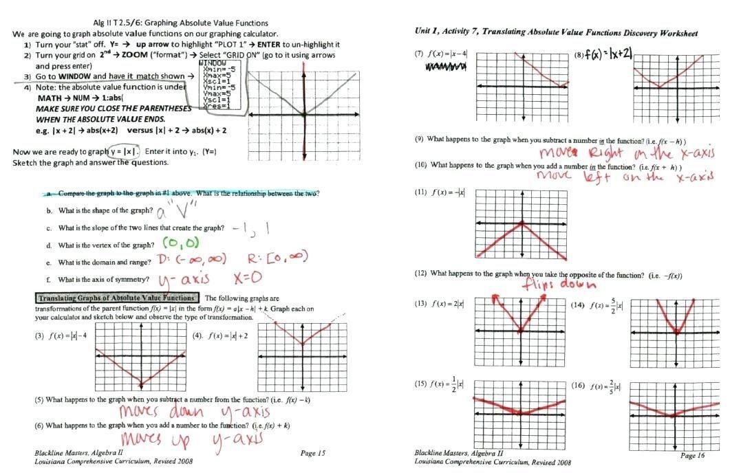 Algebra 1 Domain And Range Worksheet Pdf