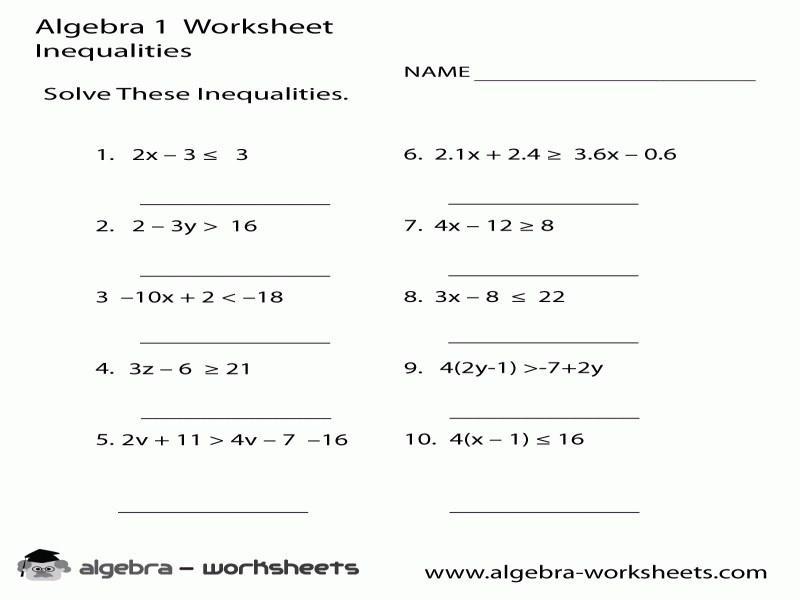 Algebra 2 Variables Worksheets 5