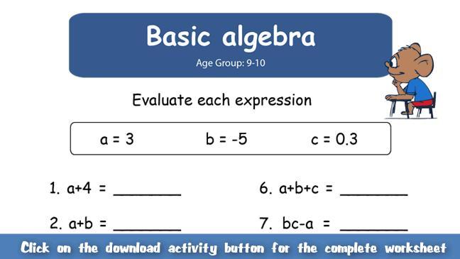 Algebra Made Simple Worksheets