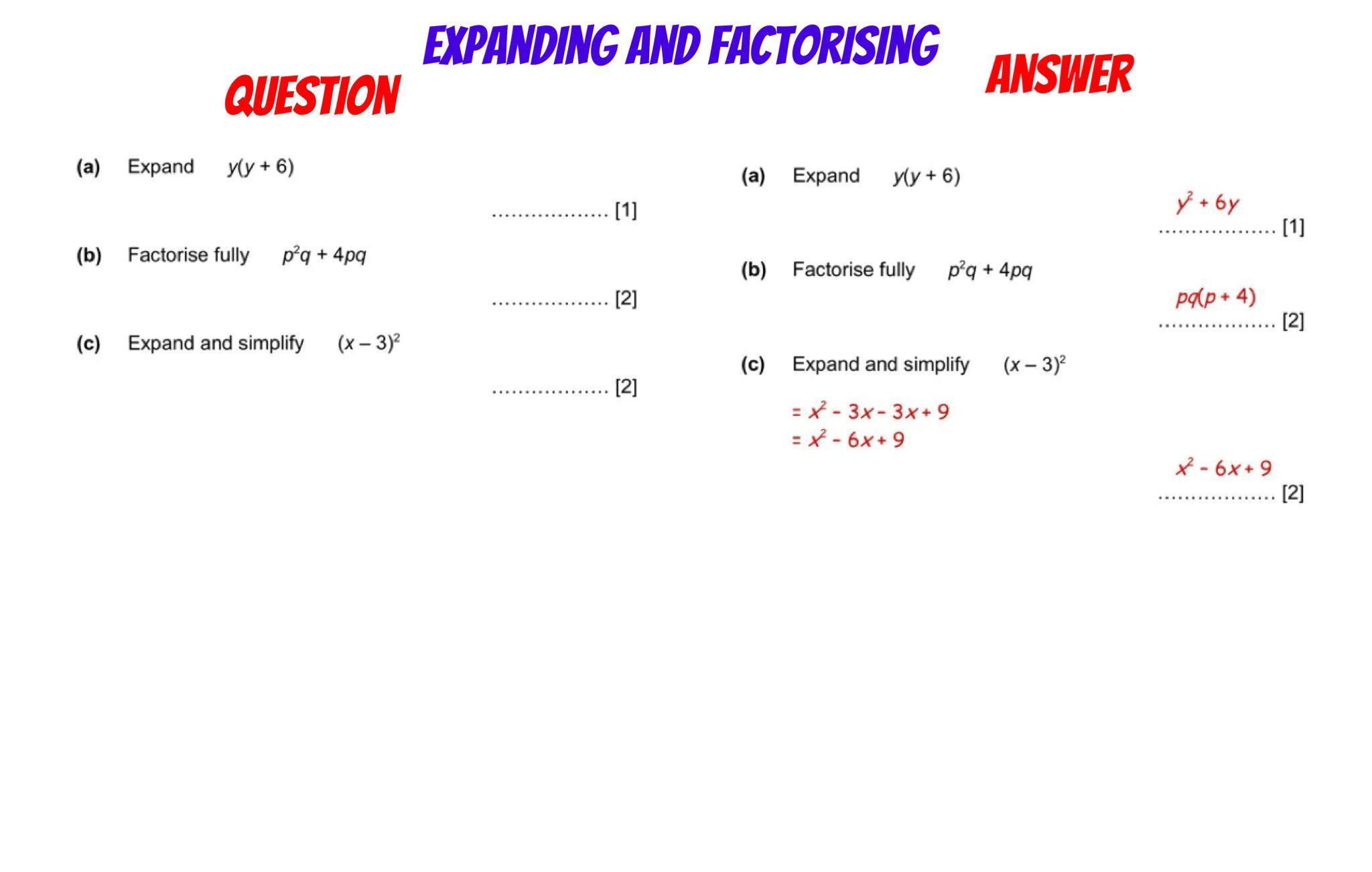 Algebra Worksheets Corbett Maths 1