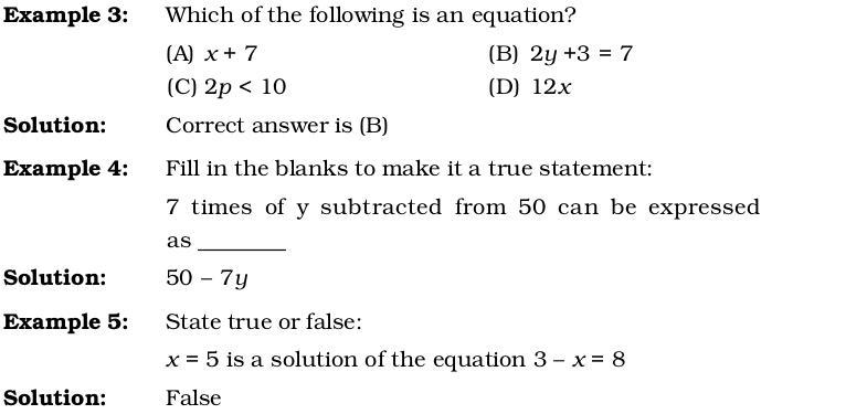 Algebra Worksheets Grade 6 Ncert 3