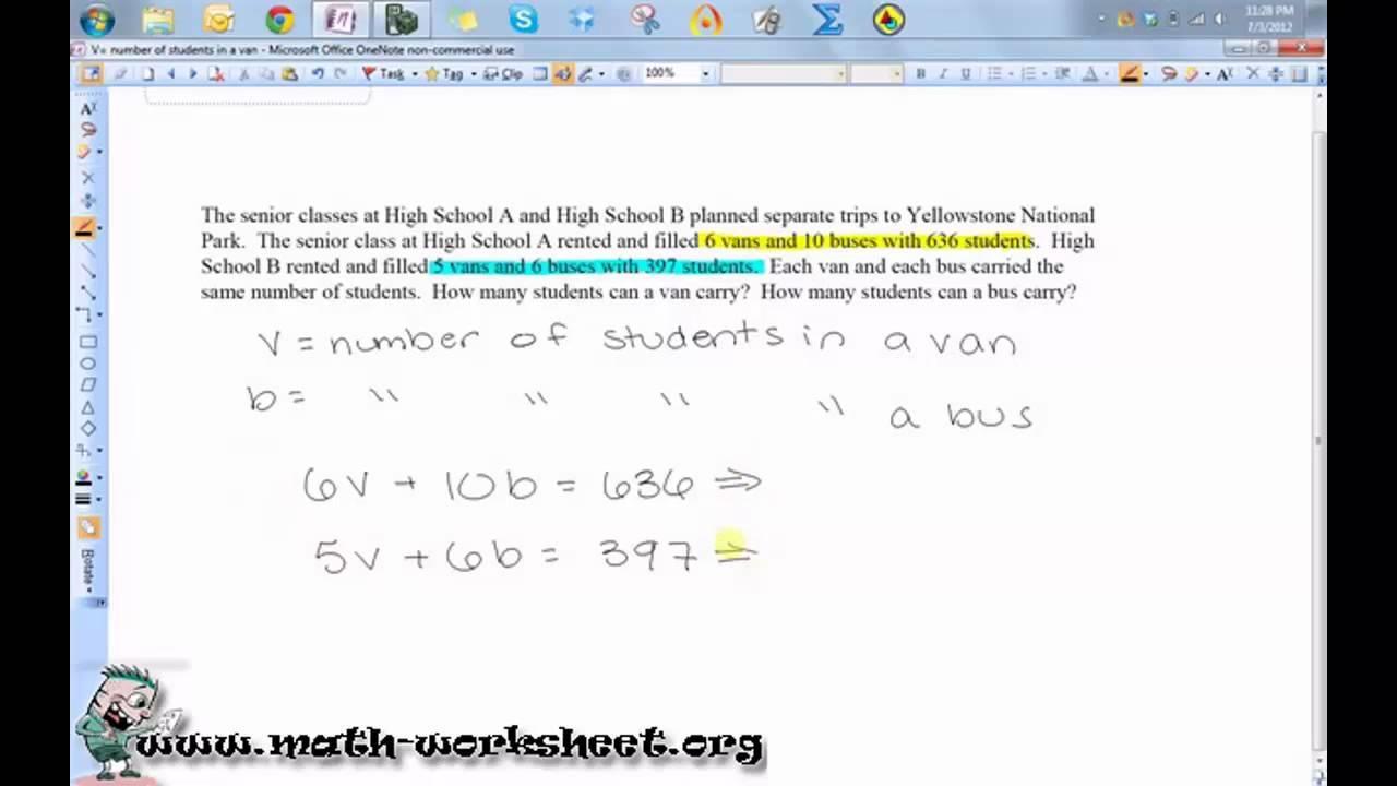 Algebra Worksheets Hard 2