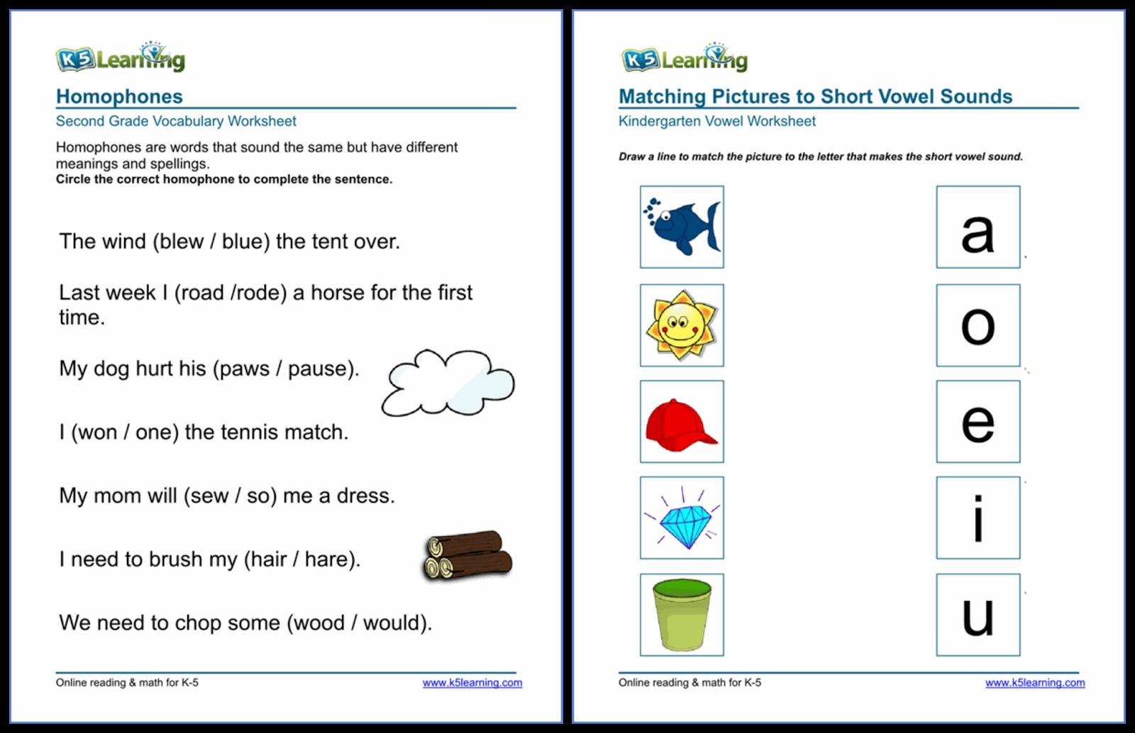 Algebra Worksheets K5 Learning 2