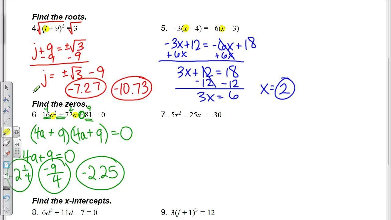 Algebra Worksheets Secondary 1 8