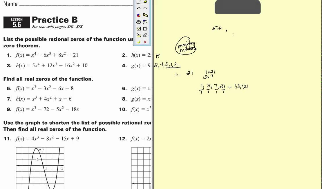 Algebra Worksheets With Answers For Grade 7 7