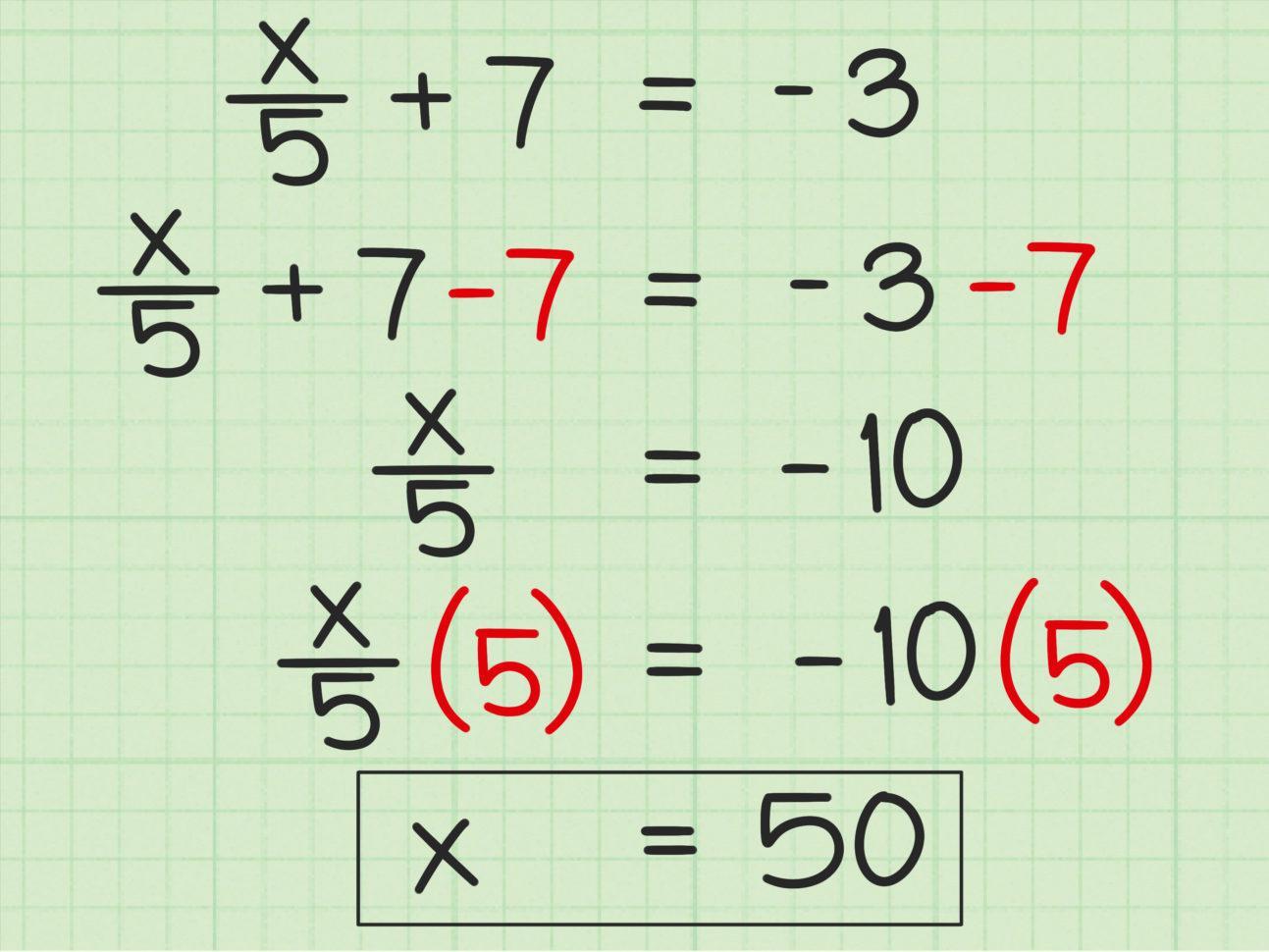 Easy Algebra Worksheets For 6th Grade