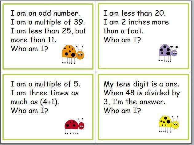 Math Riddles Worksheets 7th Grade