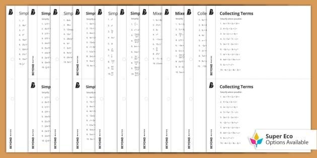 Math Worksheets For Grade 6 Cbse