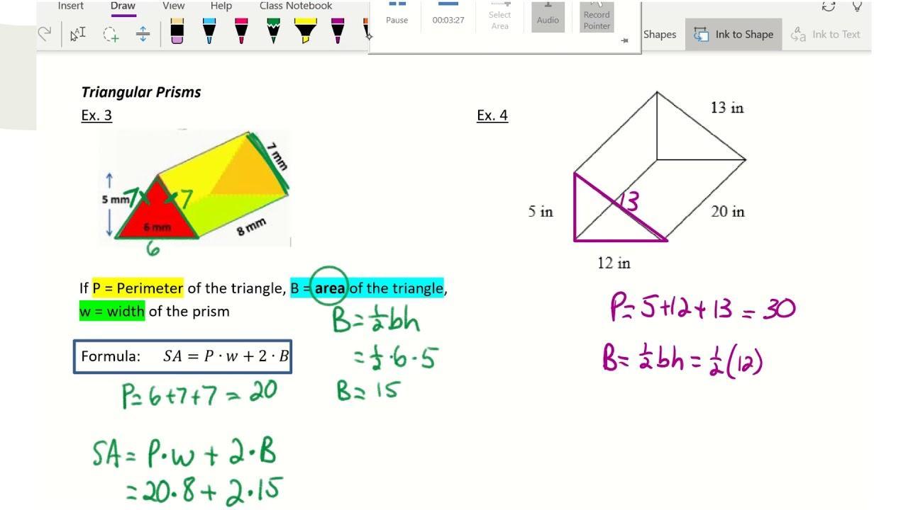Pre Algebra Volume Worksheets 2