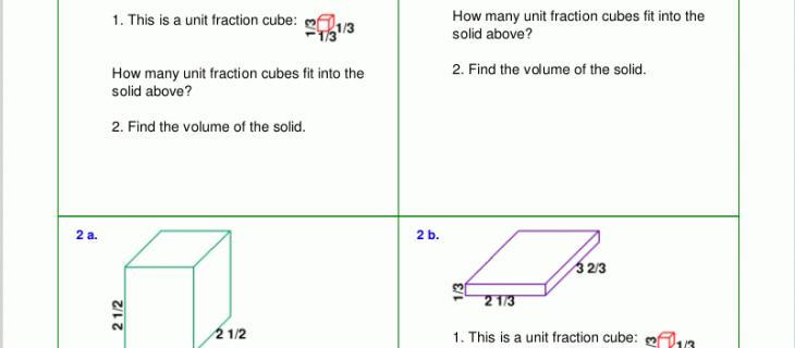Pre Algebra Volume Worksheets 6