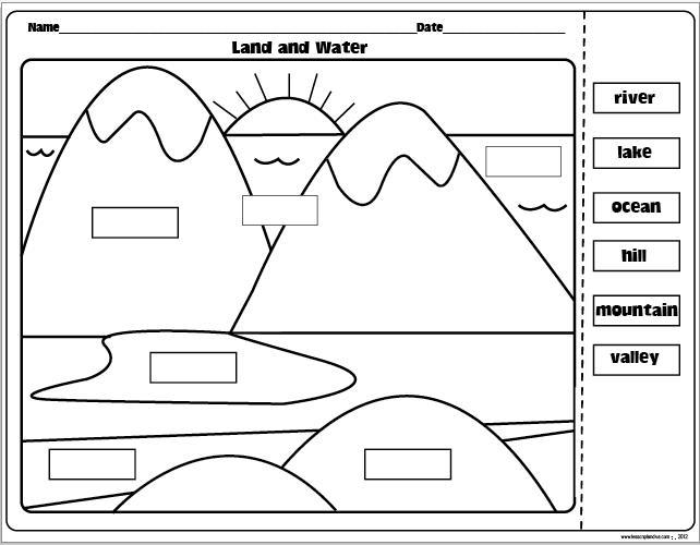 1st Grade Landforms Worksheets 1