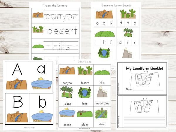 1st Grade Landforms Worksheets 3