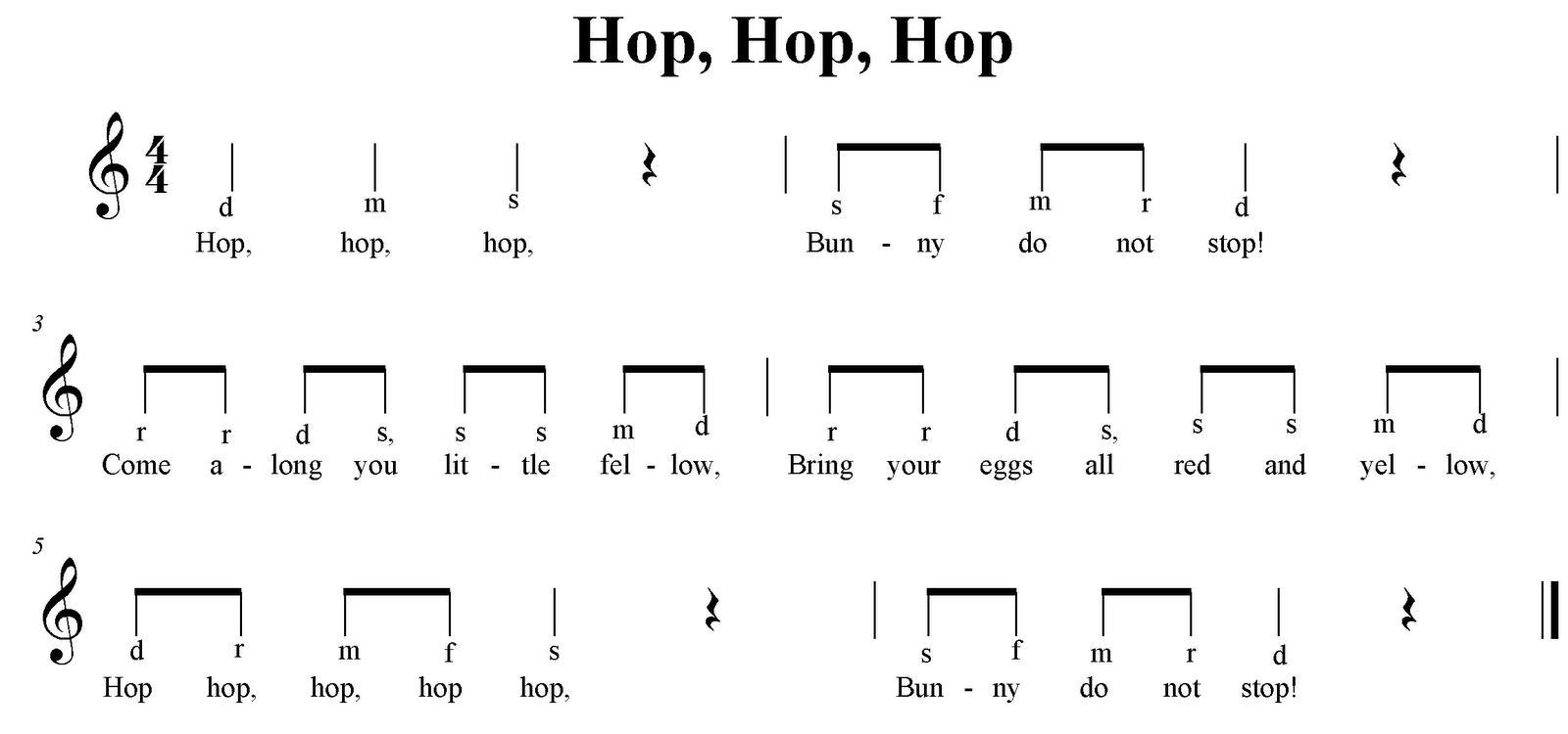 1st Grade Music Worksheets 5