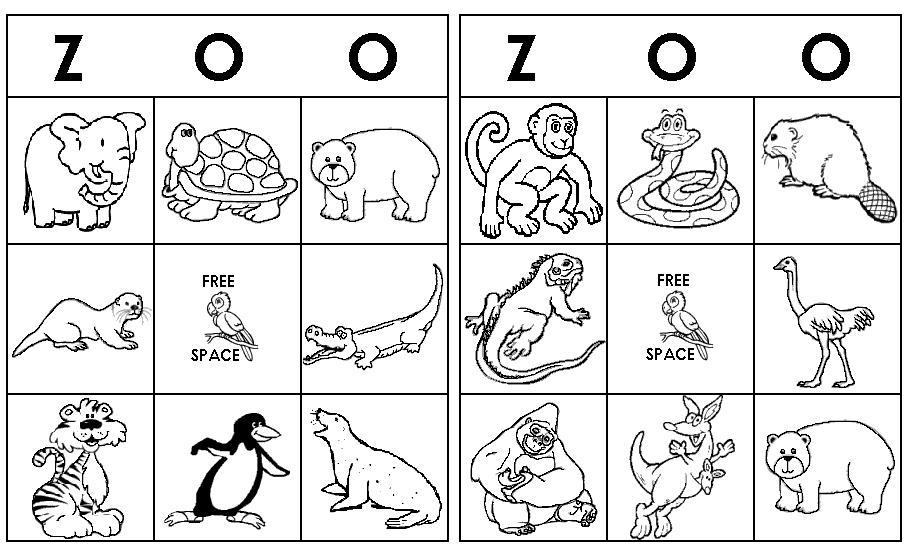 English Worksheets Zoo Animals 4