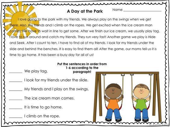 Grade 1 Main Idea Worksheets
