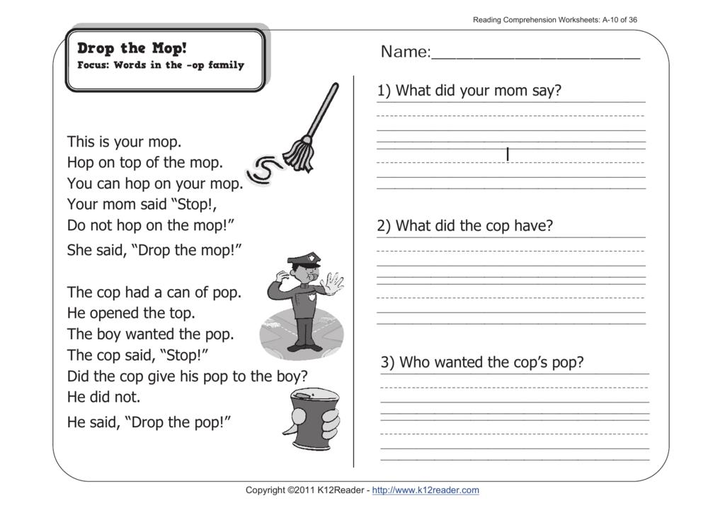 Inference Worksheets Pdf 1st Grade