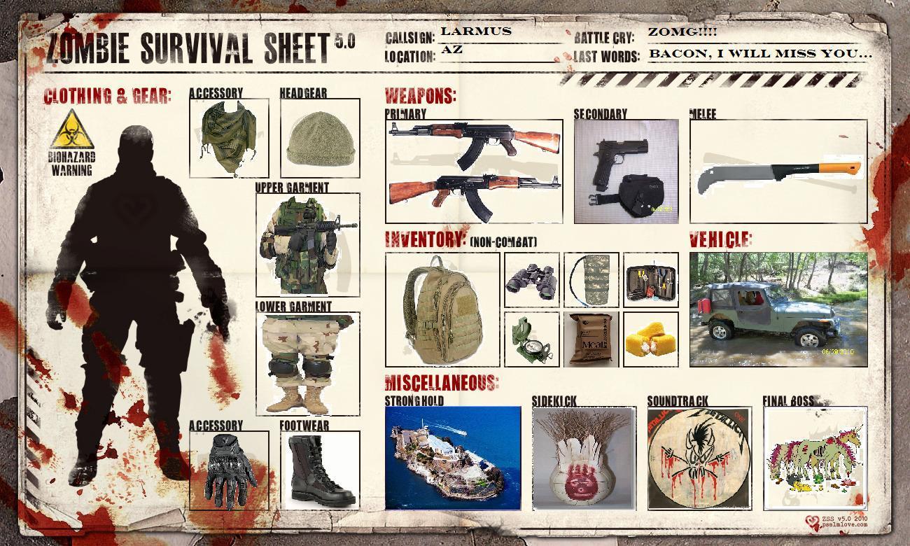 Zombie English Worksheets 3