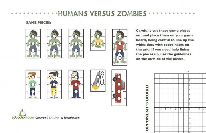 Zombie English Worksheets 5