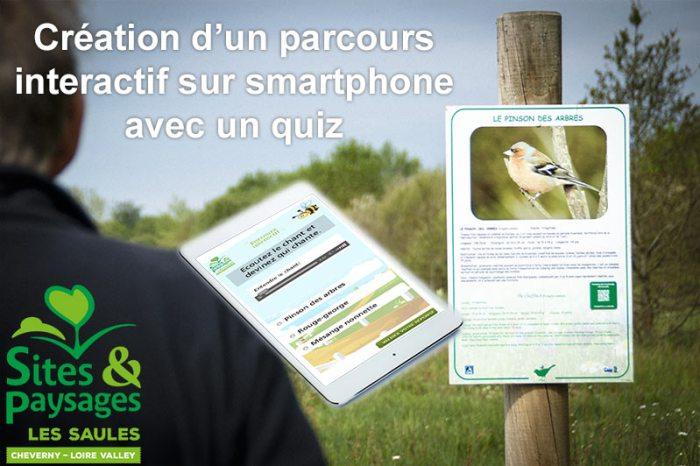 parcours interactif sur smartphone au camping les saules à cheverny
