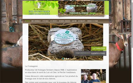 smart360 création de site internet d'une formagerie dans le perche