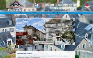 site internet responsive design charpente ouverture hervault saint gervais la foret