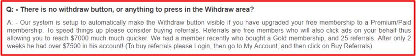seven dollar click withdrawl