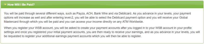 wsb payout methods