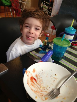 Aleck is finally a regular member of the clean plate club and we couldn't be more thrilled!