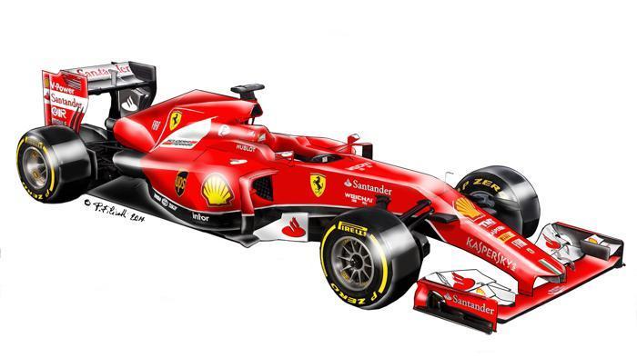 Ferrari f1 lampo rosso
