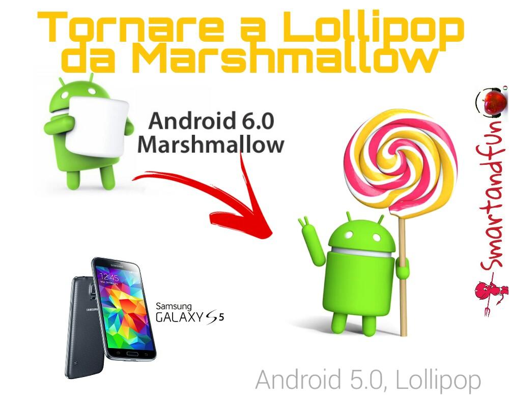 Tornare a Lollipop da Marshmallow su Galaxy S5 ecco la guida!