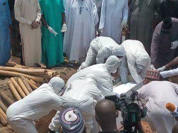 Nigerian Chief of Staff who DIED of COVID-19 BURIED