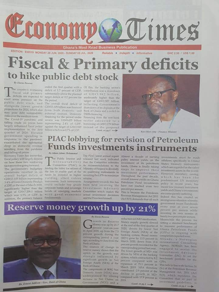 Front pages; Newspaper Headlines for today; June 29 2020