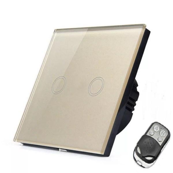 сензорен ключ златист с дистанционно