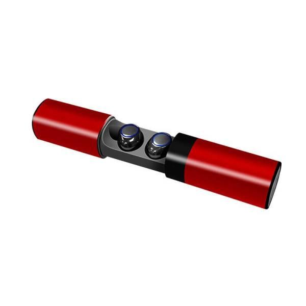 безжични слушалки червени