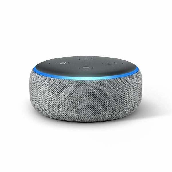 amazon echo to 3 heather grey - сив цвят
