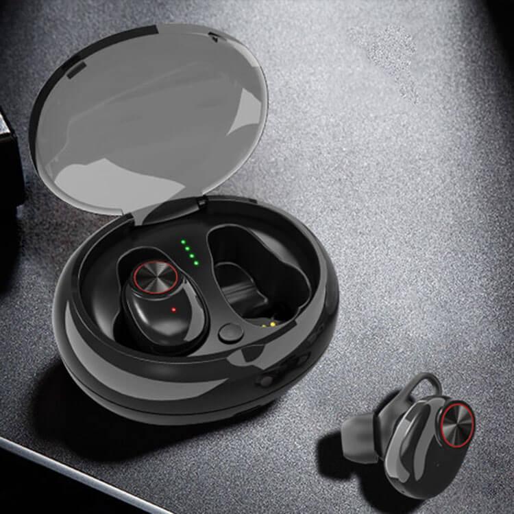 безжични bluetooth earplugs черни