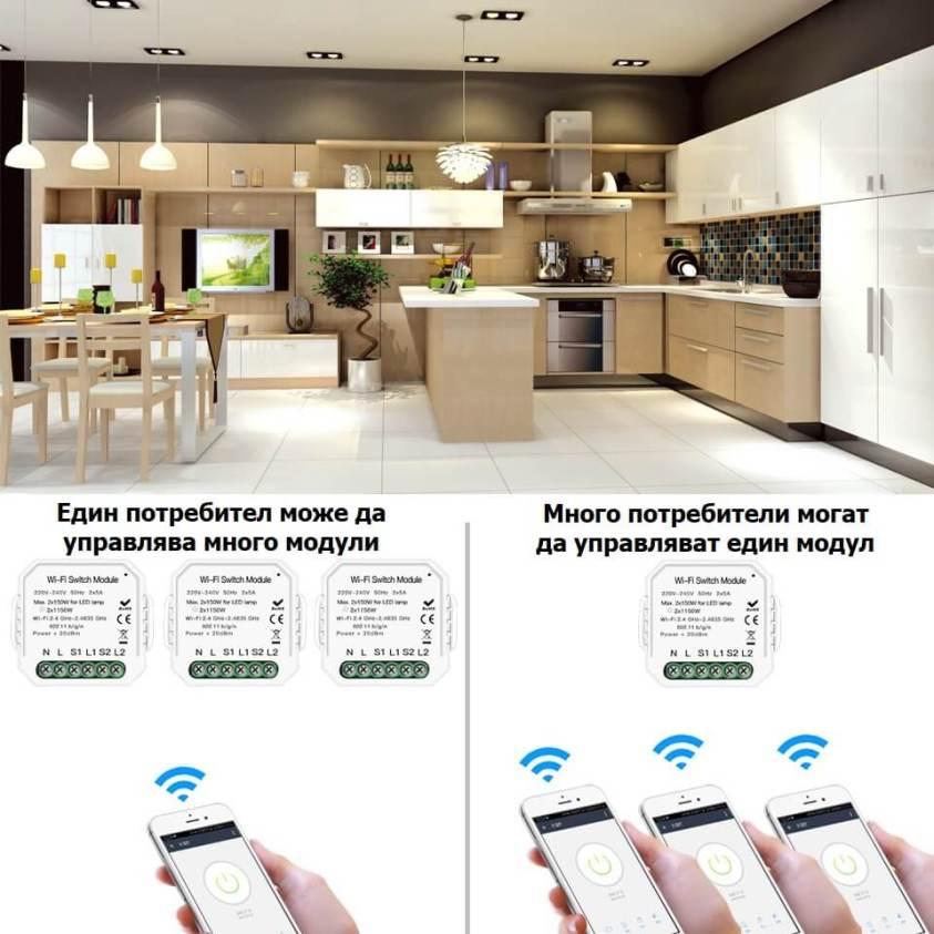 споделяне на управление на WiFi модул