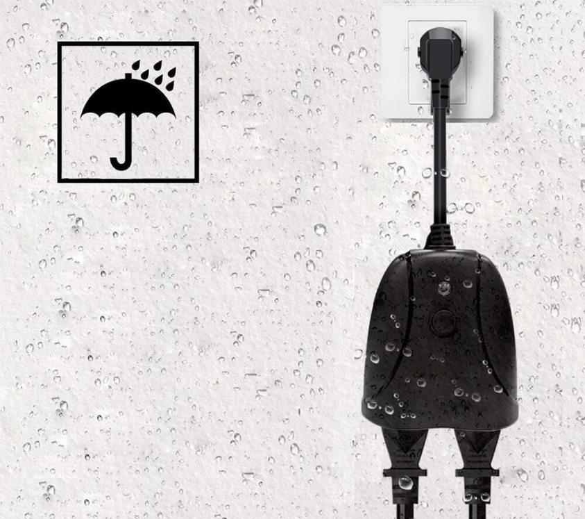 външен контакт с WiFi при дъжд