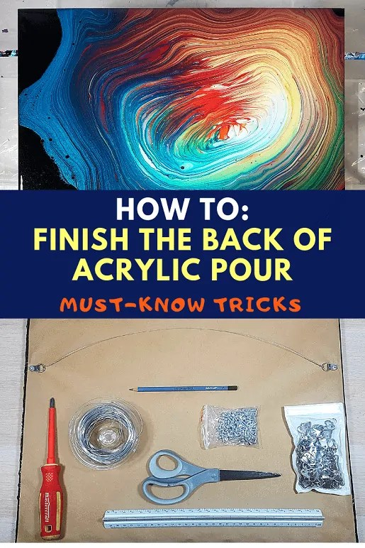 How To Finish the BACK of the Canvas for Acrylic Pour ...