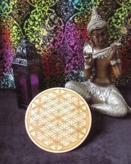Crystal Grid Plate, Flower of Life