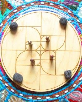 Crystal Grid Plate, Fibonacci Spiral