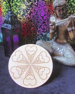Crystal Grid Plate, Expanding Hearts