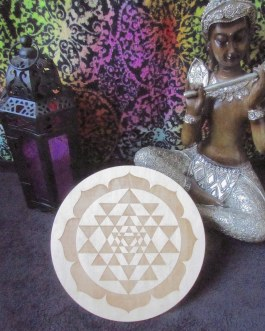 Crystal Grid Plate, Sri Yantra Circle