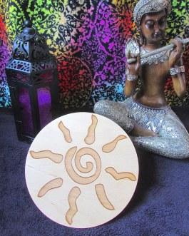 Crystal Grid Plate, Spiral Sun