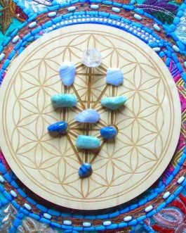 Crystal Grid Plate, Tree of Life, Kabbalah