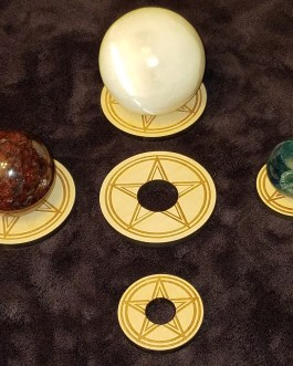 Gemstone Sphere Holder, Pentacle, Pentagram