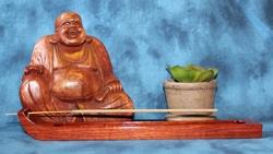 Incense Holder, Redheart wood, Curved design