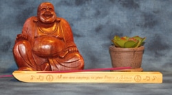 "Incense Holder Engraved ""All We Are Saying Is Give Peace A Chance"" by John Lennon"