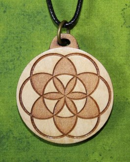 Wooden Pendant, Seed of Life