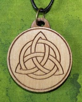Wooden Pendant, Triquetra